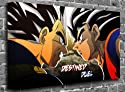 "Dragon Ball Z Animated Comic Canvas Art Canvas Print Picture print Size: (24"" x 16"")"