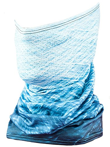 Fishmasks Single Layer Neck Gaiter - Lightweight, Fishing Protection From Sun, Wind And Moisture - Made In USA - UPF 50+ Moisture-Wicking Fabric - Water (Sun Protection Fishing compare prices)