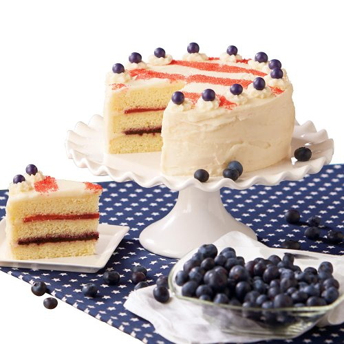 Harry & David Red, White and Blueberry Cake