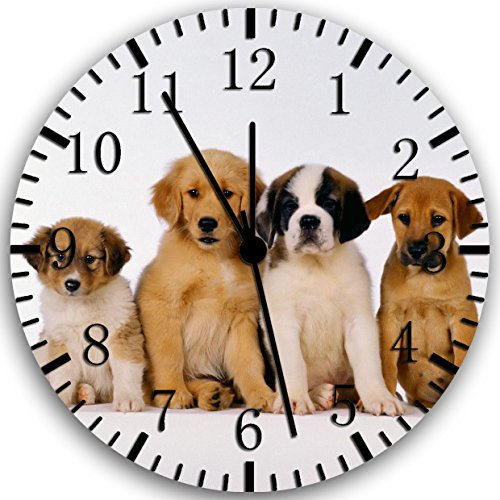 Cute Puppy Dog Wall Clock 10