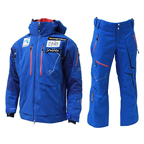 PHENIX(フェニックス)【PF572OT00/PF572OB00】ユニセックス スキーウェア ノルウェーチーム ジャケット パンツ 上下セットRB×RB M