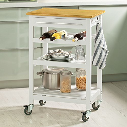 Sobuy carrello di servizio scaffale da cucina mensola angolare legno e bamb fkw16 wn it - Scaffale cucina ...