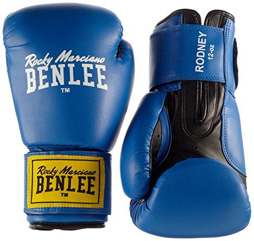 BENLEE Rocky Marciano Boxhandschuhe Training Glovess Rodney, Schwarz/Blau, 14, 194007