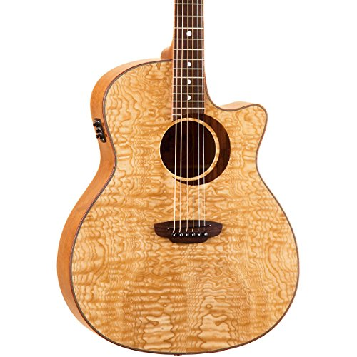 Luna Guitars Woodland Quilted Ash Acoustic/Electric Guitar