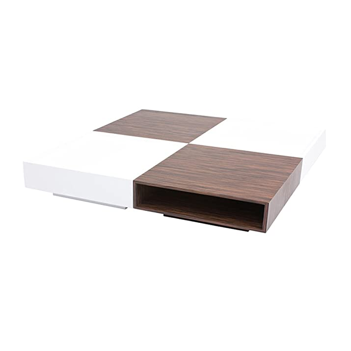 designement tahis Tavolino acciaio inox bianco 120x 120x 26cm