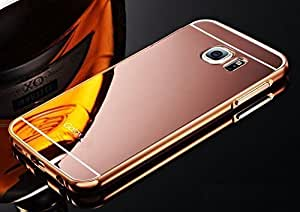 Samsung Galaxy S6 edge (5.1 Inch) Case Cover, Luxury Metal Bumper + Acrylic Mirror Back Cover Case For Samsung Galaxy S6 edge (5.1 Inch) - Rose Gold