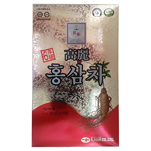 Ilhwa 300G(100P X 3G) Korean Red Ginseng Extract Tea, Il Hwa Panax Ginseng C.A Meyer