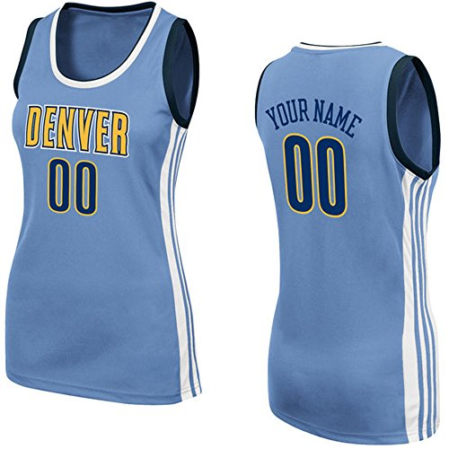 Denver Nuggets White Jersey: Nuggets Customized Jersey, Nuggets Personalized Jersey