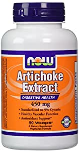 Now Foods Artichoke Extract 450mg, Veg-capsules, 90-Count