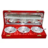 Silver Plated Brass Bowl Set Of 7 Pcs With Box Packing For Gift