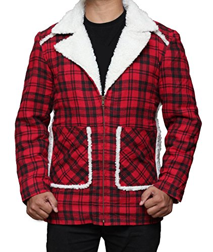 ryan-reynolds-red-plaid-shearling-jacket-wade-wilson-shearling-jacket-cyber-deal-m-red
