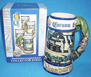 Corona Extra Ceramic Palm Tree Beer Stein Toys Games