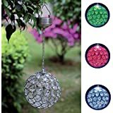 14.5cm Colour Changing Hanging Solar Crystal Light