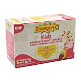 Emergen-C Kids Multi-Vitamin Fizzy Drink Mix, 500 mg, Strawnana, Berry Blast, 0.3-Ounce Packets in 30-Count Boxes ~ Emer'gen-C