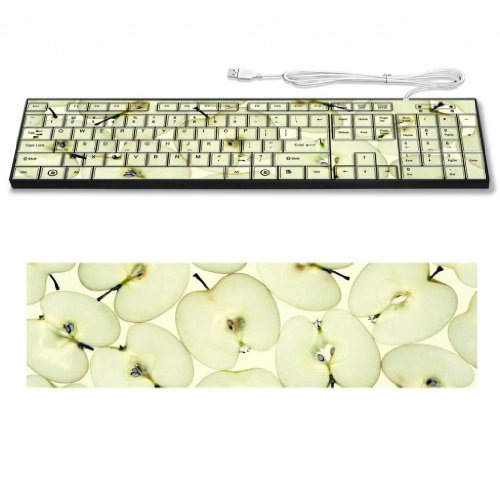 Granny Smith Apple Vitamins Minerals Supplements Keyboard Customized Made To Order Support Ready 16 7/8 Inch (430Mm) X 4 7/8 Inch (125Mm) X 15/16 Inch (25Mm) High Quality Liil Key Board Boards Desktop Laptop Key_Board Comfortable Computer Accessories Cute