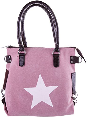 Bags4Less Borsa Messenger, Velours Rosa (rosa) - Stern-Mini_9