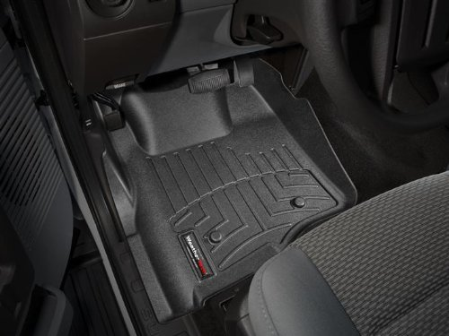 2011-2015 Ford F-250/F-350/F-450/F-550-Weathertech Floor Liners-Full Set (Includes 1st and 2nd Row)-Fits Super Cab (Extended Cab) Only. With out Manual Floor Shifter-Black (443051 Weathertech compare prices)
