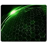 Pattern Green Crystal Structure Mouse Pads Customized Made to Order Support Ready 9 7/8 Inch (250mm) X 7 7/8 Inch (200mm) X 1/16 Inch (2mm) High Quality Eco Friendly Cloth with Neoprene Rubber Liil Mouse Pad Desktop Mousepad Laptop Mousepads Comfortable Computer Mouse Mat Cute Gaming Mouse_pad