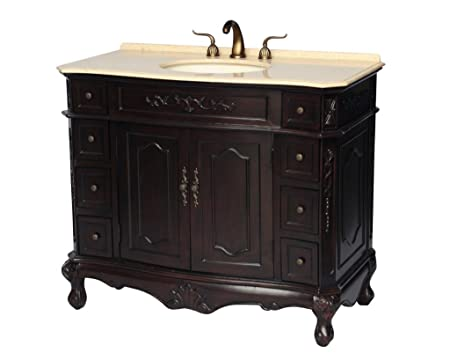 42-Inch Antique Style Single Sink Bathroom Vanity Model 1905-42ES BE