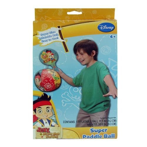WeGlow International Disney Jake and The Never Land Pirates Super Paddle with Inflatable Ball