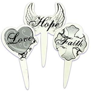 Faith Hope Love Wedding Cake Topper