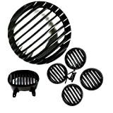 #10: Auto Hub Plastic Grill Set For Bajaj Avenger - Black (Set of 6)