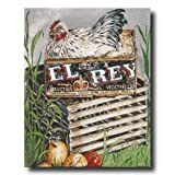 Chicken Hen Wood Crate Box Country Home Decor Wall Picture 16x20 Art Print