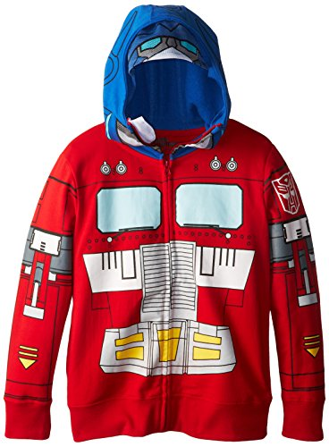 Transformers Big Boys' Optimus Prime Boys Costume Hoodie with Mesh Mask