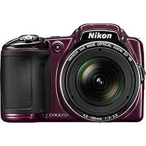 Nikon COOLPIX L830 16 MP CMOS Digital Camera with 34x Zoom NIKKOR Lens and Full 1080p HD Video (Black) (Refurbished)