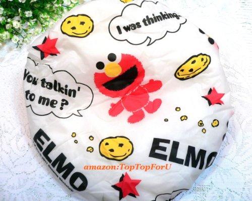 Sesame Street Elmo Peva Elastic Rubber Band Shower Cap Reusable front-1052126