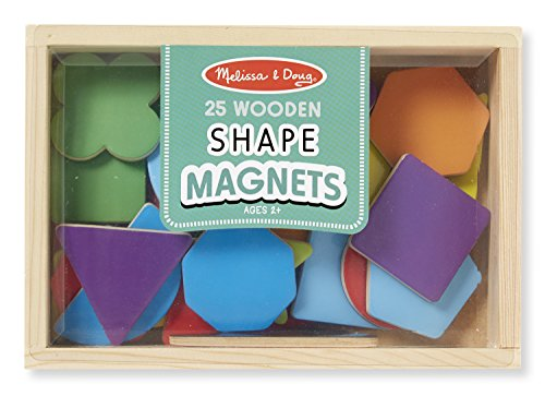 Melissa & Doug Magnetic Wooden Shapes and Colors