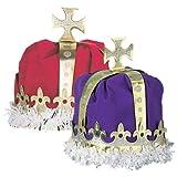 Magique Novelties Red Royal Kings Crown Dress-up Costume Hat