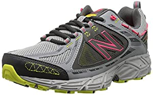 New Balance Women's WT510V2 Trail Shoe, Grey/Lime/Pink, 8.5 B US