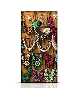 Stylebaby Phone Case Shine Color Stone Jewellery Necklaces Back Cover For Nokia Lumia 730 Multicolor