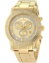 """JBW-Just Bling Men's JB-6234-D """"Lynx"""" Diamond Mother-Of-Pearl 18K Gold Plated Stainless Steel Watch"""