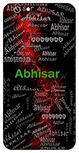 Abhisar (Companion) Name & Sign Printed All over customize & Personalized!! Protective back cover for your Smart Phone : Moto G-4