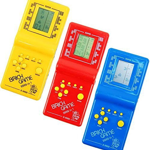 Roll over image to zoom in      Dazzling Toys Hot Kids' Toys Educational Tetris Game Hand Held LCD Electronic Toys Brick Game