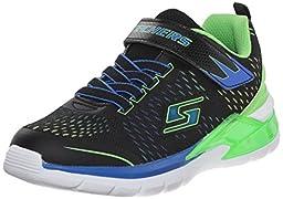 Skechers Kids Erupters II Lava Arc Light Up Sneaker (Toddler), Black/Blue/Lime, 8 M US Toddler