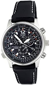 Citizen - AS4020-28E - Montre Homme - Quartz chronographe - Bracelet en Cuir noir