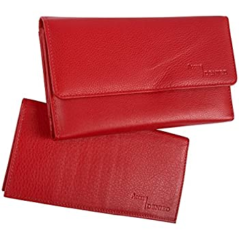 02. RFID Blocking Womens Leather Wallet and Checkbook by Access Denied