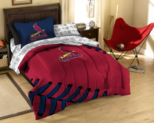 Mlb St. Louis Cardinals Twin Bed In A Bag With Applique Comforter front-882310