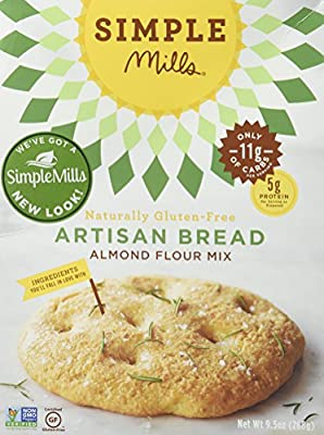Simple Mills Artisan Bread Mix, 9.5 Ounce Box, 3 Count by Simple Mills INC