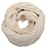 NEOSAN Womens Thick Ribbed Knit Winter Infinity Circle Loop Scarf Twist Khaki