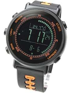LAD WEATHER watch for outdoor sports heights humidity temperature unisex lad002bkor black orange