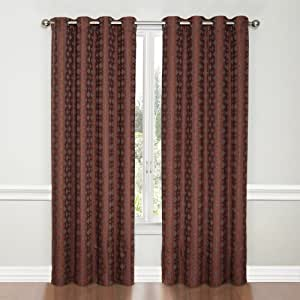 Vue Miranda Grommet Blackout Window Curtain Panel 95 Inch Rust Home Kitchen