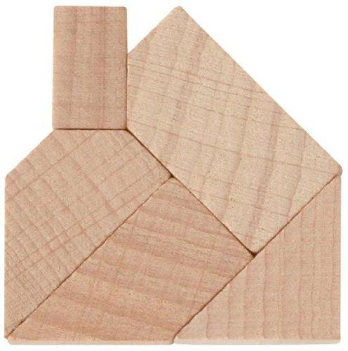 Mini-Puzzle Das zerlegte Haus Puzzle Holz Lernspiel Knobelspiel