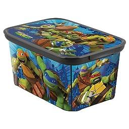 Teenage Mutant Ninja Turtles Small Plastic Storage Bin