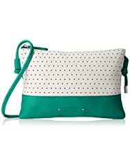 Caprese Women's Sling Bag (Aqua-White)