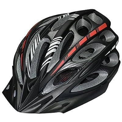SUNGETACE® Cycling Bike Helmet with Detachable Visor for Men Women Girl Outdoor Sports BMX MTB Red Light, Large, Matte Black from Shen Zhen Shi Shang Ge Li Electricity Co., Ltd