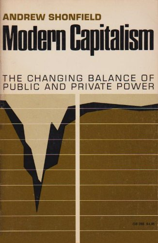 Modern Capitalism: The Changing Balance of Public and Private Power (Galaxy Books), Andrew Shonfield